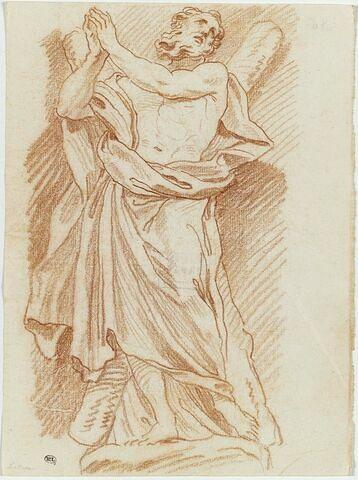 Saint André debout les mains jointes