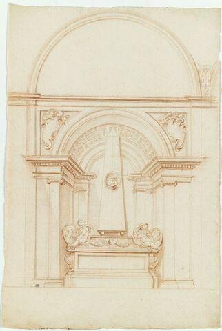 Copie d'après le tombeau de Faustina Mancini