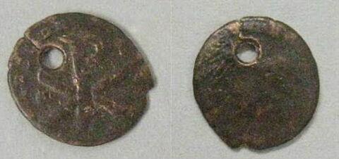 médaillon  ; monnaie