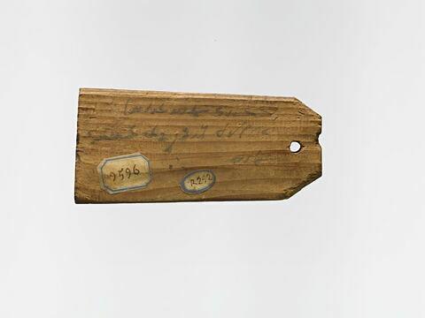 étiquette de momie en palette