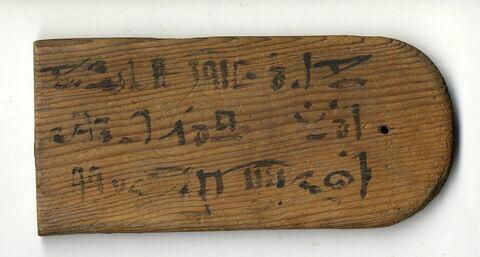 face, recto, avers, avant ; vue de dessus © Musée du Louvre / Antiquités égyptiennes