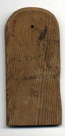 vue de dessus ; dos, verso, revers, arrière © Musée du Louvre / Antiquités égyptiennes