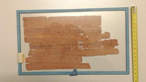 dos, verso, revers, arrière © 2019 Musée du Louvre / Antiquités égyptiennes