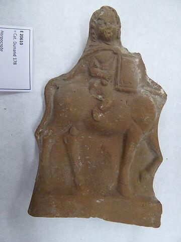 figurine d'Harpocrate cavalier ; figurine d'Harpocrate guerrier