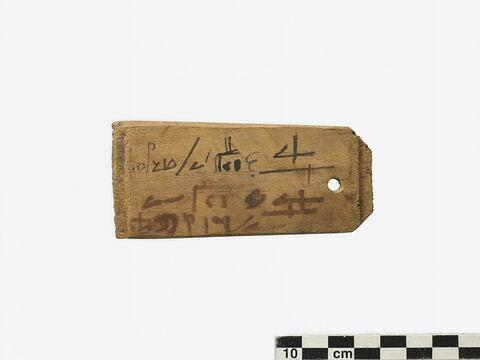 étiquette de momie rectangulaire ; étiquette de momie à 1 anse