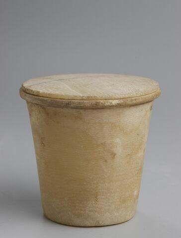 gobelet évasé ; couvercle de vase