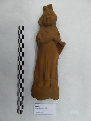 figurine d'Harpocrate au pot ; figurine d'Harpocrate phallique