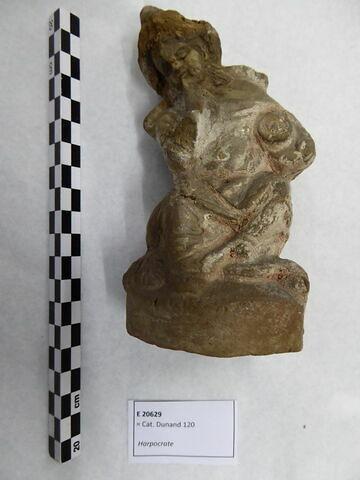 figurine d'Harpocrate phallique ; figurine d'Harpocrate au pot