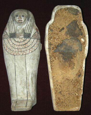 sarcophage miniature ; élément momifié