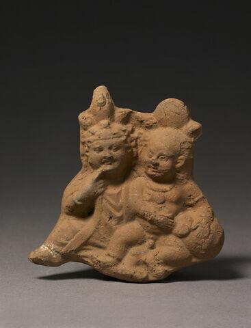 figurine d'Harpocrate au pot ; figurine d'Harpocrate double