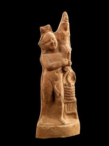 figurine d'Harpocrate portant son image ; figurine d'Harpocrate phallique