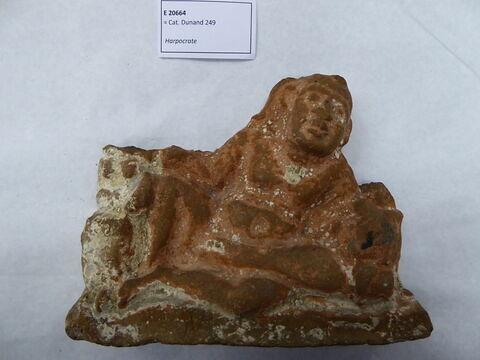 figurine d'Harpocrate phallique ; figurine de femme au tambourin