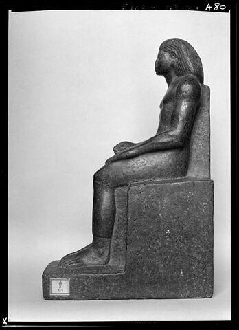 vue d'ensemble ; profil gauche © Musée du Louvre / Maurice et Pierre Chuzeville