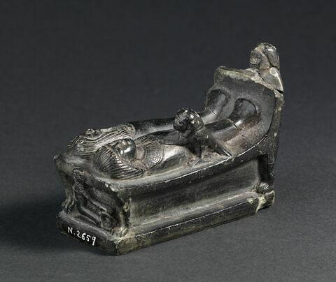 serviteur funéraire gisant double ; figurine