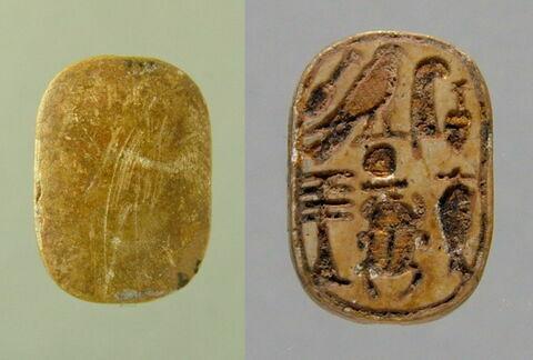 perle en pastille ovale ; scarabée