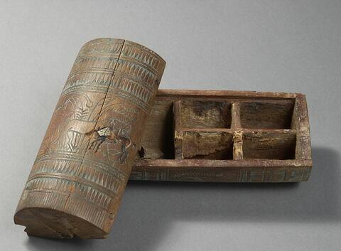 boîte cylindrique ; avec contenu