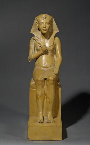 statue de couple  ; Statue de roi amarnien