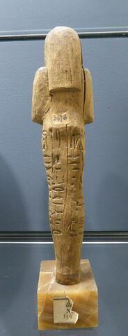 vue d'ensemble ; dos, verso, revers, arrière ; détail marquage / immatriculation © 2018 Musée du Louvre / Antiquités égyptiennes