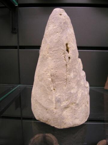 bouchon de jarre conique ; empreinte de sceau ; couvercle de vase