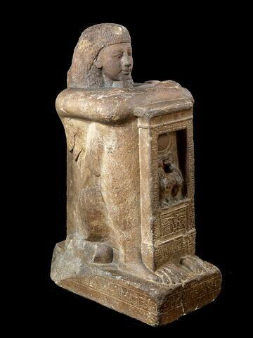 statue naophore ; statue cube