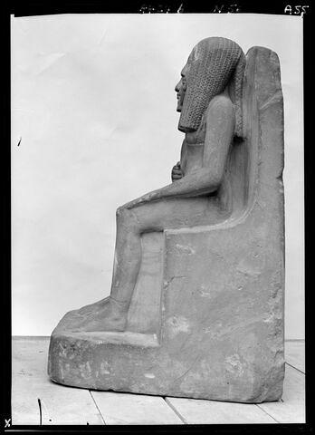 vue d'ensemble ; profil gauche © 1972 Musée du Louvre / Maurice et Pierre Chuzeville