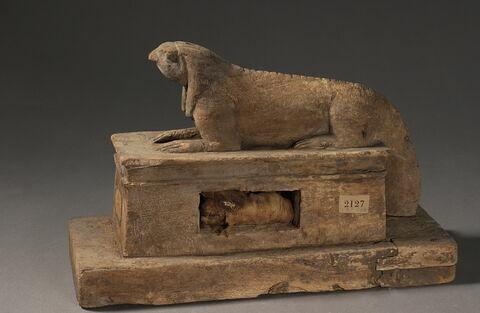 figurine ; sarcophage d'animal ; élément momifié