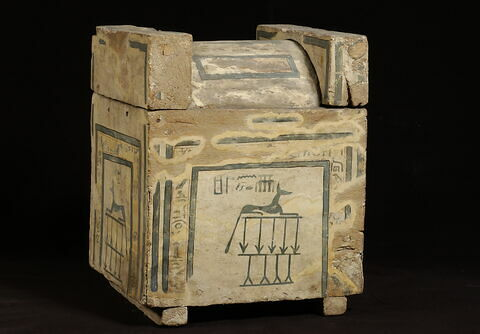 coffre à canopes carré à couvercle bombé ; Coffre à canopes de Sékhemrê-Oupmaât Antef-Âa