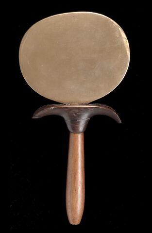 miroir à manche papyriforme ; miroir en disque aplati