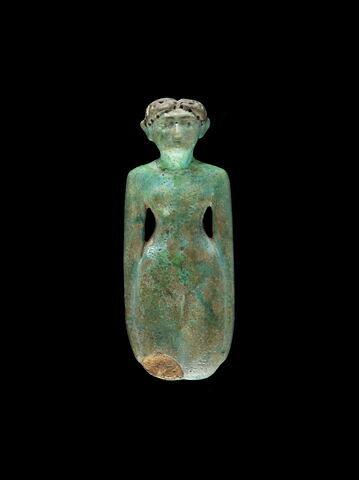 figurine féminine ; figurine féminine type Deir el Bahari