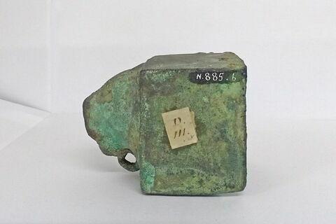profil gauche ; détail étiquette ; détail marquage / immatriculation © 2018 Musée du Louvre / Antiquités égyptiennes