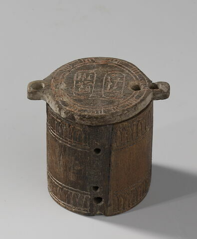boîte cylindrique ; couvercle de boîte pivotant