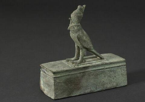 figurine ; sarcophage de faucon