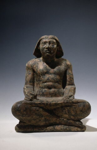 statue de scribe assis en tailleur ; Statue de Setka