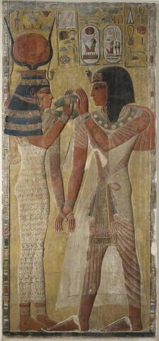 relief mural ; bloc de paroi ; Relief de Séthi I et Hathor