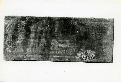 plaquette ; plaquette de dépôt de fondation