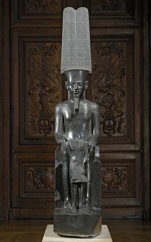 statue ; Statue d'Amon et Toutânkhamon
