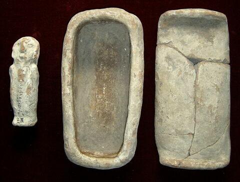 serviteur funéraire momiforme ; sarcophage à serviteur funéraire
