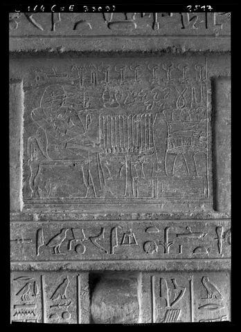 détail ; partie supérieure ; face, recto, avers, avant © Musée du Louvre / Maurice et Pierre Chuzeville
