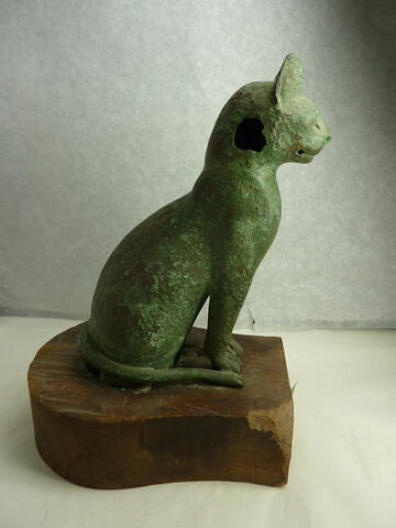 figurine ; sarcophage de chat