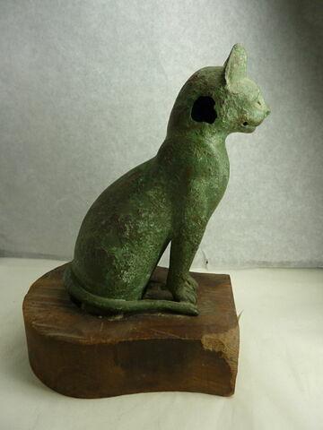 figurine ; sarcophage de chat