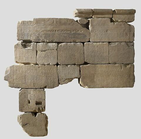 relief mural ; mur ; Le mur des annales de Thoutmosis III