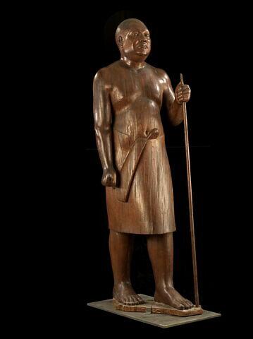 copie ; statue ; Copie de la statue du Cheikh El Beled du Musée égyptien du Caire