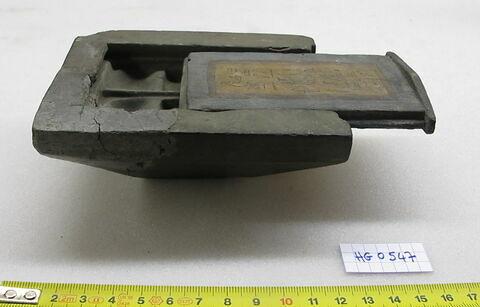 boîte ; palette de scribe ; palette de scribe à couvercle à glissière