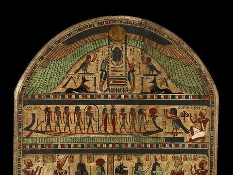 détail ; partie supérieure ; dos, verso, revers, arrière © 2011 Musée du Louvre / Georges Poncet