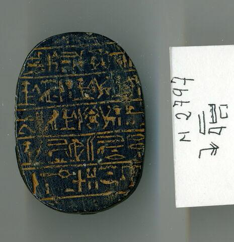 vue d'ensemble ; vue de dessous © 2013 Musée du Louvre / Antiquités égyptiennes