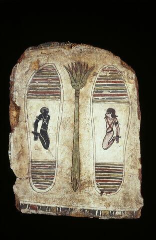 élément de cercueil ; semelle de momie