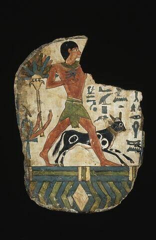 enveloppe de momie en cartonnage ; fragment