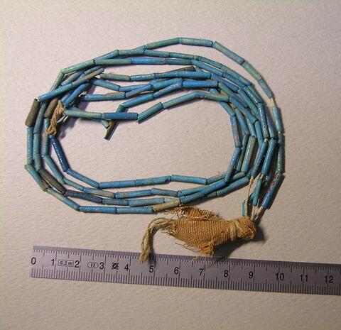 collier à 2 rangs ; perle tubulaire