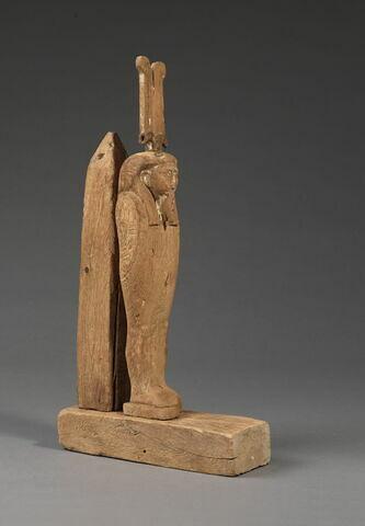 figurine d'Osiris à l'obélisque ; statue de Ptah-Sokar-Osiris
