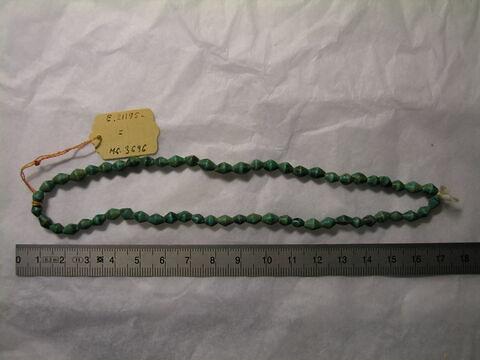 collier ; perle biconique